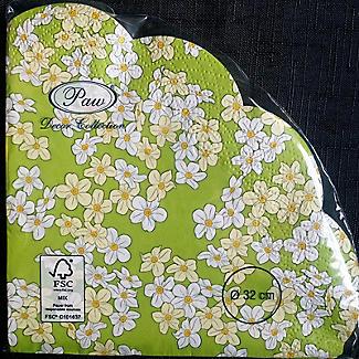 12 Round Scalloped Floral Napkins alt image 2
