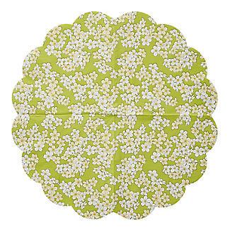 12 Round Scalloped Floral Napkins alt image 3