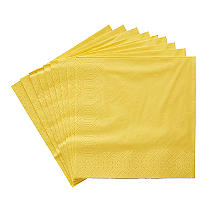 20 Yellow 3-Ply Napkins