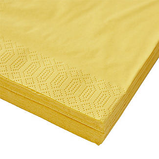 20 Yellow 3-Ply Napkins alt image 3