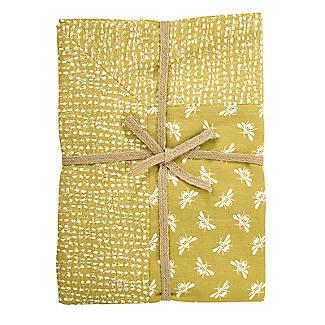 Walton & Co. Bee Tablecloth Yellow 100 x 100cm