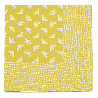Walton & Co. Bee Tablecloth Yellow 100 x 100cm alt image 3
