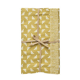 Walton & Co. Bee Table Runner Yellow 180 x 40cm