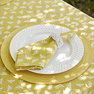 Walton & Co. Bee Napkin Set Yellow – Pack of 4 alt image 2