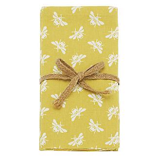 Walton & Co. Bee Napkin Set Yellow – Pack of 4 alt image 3