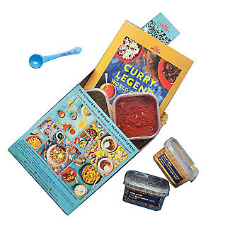 The Spicery Curry Legend World Curries Cookbook and Spices Gift Set