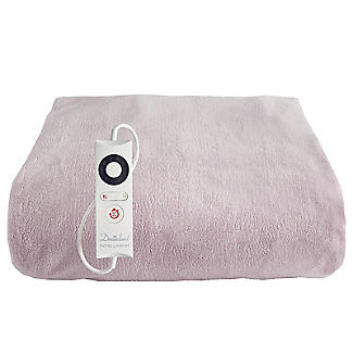 Velvety Electric Heated Throw Dusky Pink – 120 x 160cm