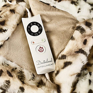Leopard Print Faux Fur Heated Throw – 120 x 160cm alt image 3
