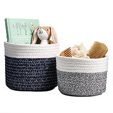 Lakeland Two Tone Rope Baskets – Pack of 2