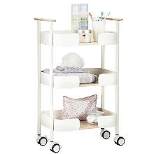 3-Tier Kitchen Trolley Cream