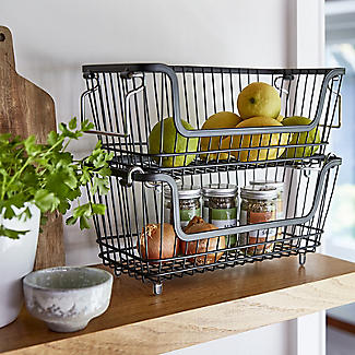Lakeland Multi-Purpose Stackable Wire Storage Basket alt image 2