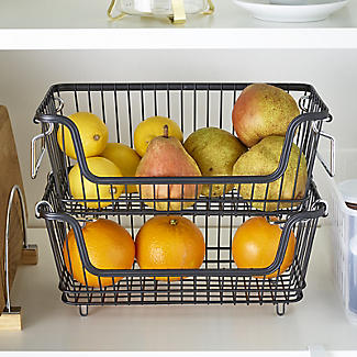 Lakeland Multi-Purpose Stackable Wire Storage Basket alt image 3