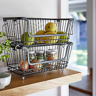 Lakeland Large Stackable Wire Basket alt image 2