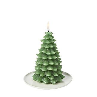Small Christmas Tree Candle 13cm