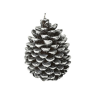Frosted Pine Cone Christmas Candle 12cm alt image 3