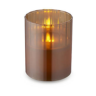Golden Flickering LED Hurricane Lamp