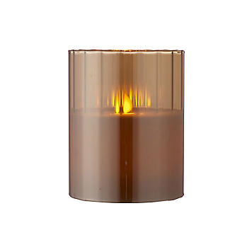 Golden Flickering LED Hurricane Lamp alt image 4