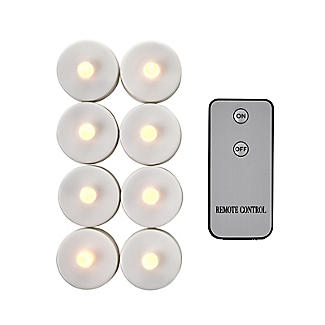 8 Remote Control White LED Tealights