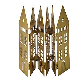 LED Folding Row of Golden Houses Christmas Decoration 44 x 17cm H. alt image 5