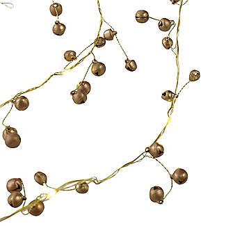 LED Gold Bell Garland Christmas Decoration 150cm alt image 2