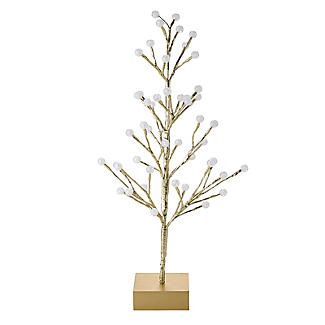 Light-Up LED Berry Tree Gold 60cm