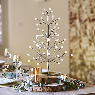 Light-Up LED Berry Tree Gold 60cm alt image 2