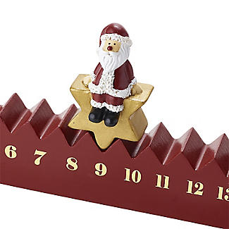 Santa Advent Countdown Christmas Decoration alt image 2