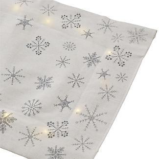 LED Light-Up Christmas Table Runner with Snowflake Motif 200 x 33cm alt image 6