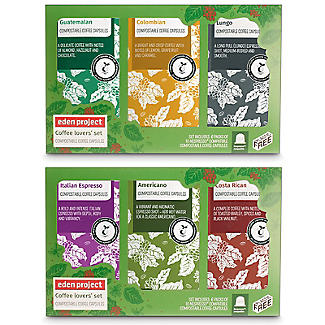 Pack of 60 Eden Project Biodegradable Coffee Capsules Gift Box