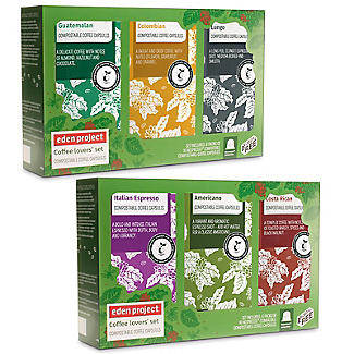 Pack of 60 Eden Project Biodegradable Coffee Capsules Gift Box alt image 2