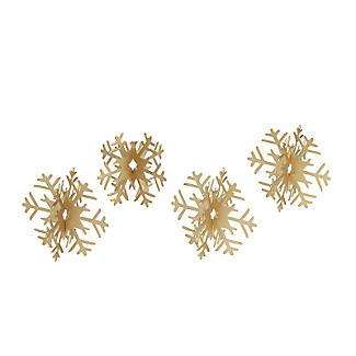 4 Metal Snowflake Place Card Holders alt image 2