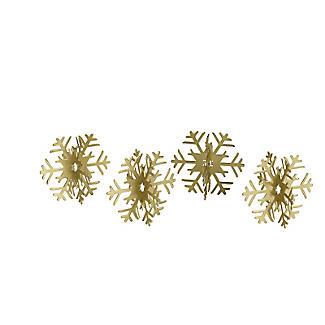 4 Metal Snowflake Place Card Holders alt image 3