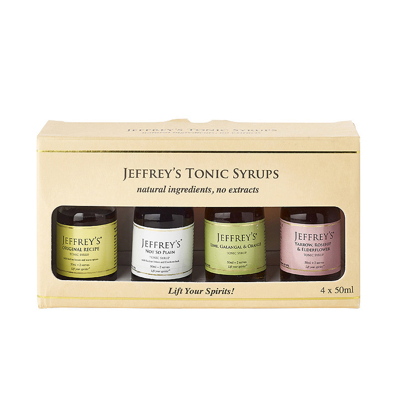 Jeffrey's Tonic Syrups Gift Pack – 4 x 50ml alt image 1