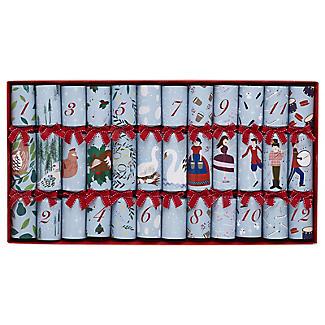 Lakeland 12 Days of Christmas Crackers Pack Of 12