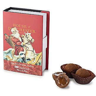 House of Dorchester Santa Book Box of Sea Salt Caramel Truffles 70g