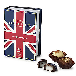 House of Dorchester Book Box of British Selection Truffles 70g
