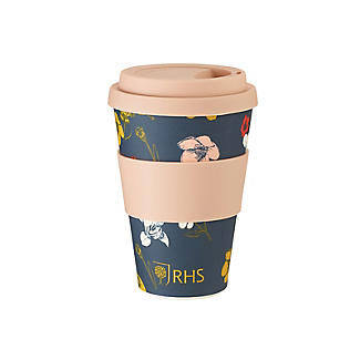 RHS Irises and Hellebores Bamboo Travel Mug 450ml