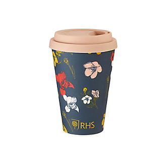 RHS Irises and Hellebores Bamboo Travel Mug 450ml alt image 2