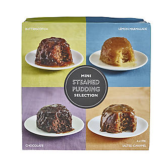 Lakeland Mini Steamed Pudding Selection – Pack of 4 x 110g