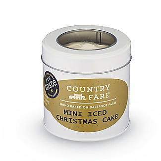 Country Fare Mini Iced Christmas Cake in a Tin alt image 2