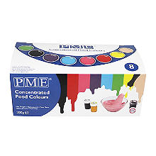 PME Concentrated Food Paste Colours for Cake Decorating – Set of 8