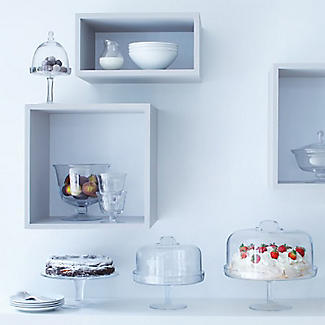 LSA Serve Clear Glass Cake Stand 31cm alt image 2