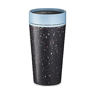 rCUP Recycled Coffee Cup – Black and Teal 340ml alt image 1