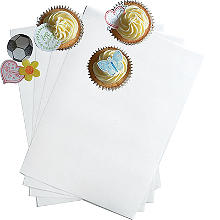 12 A4 Edible Wafer Paper Sheets – White