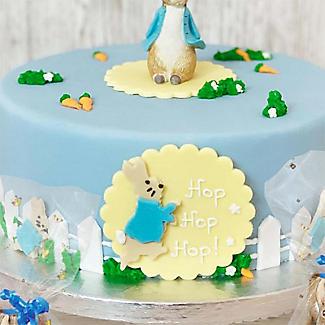 Large Peter Rabbit Edible Sugarcraft Hop Hop Hop Cake Topper alt image 2