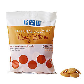 PME Natural Colour Candy Buttons Orange 200g