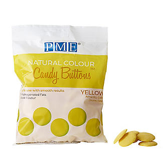PME  Natural Colour Candy Buttons Yellow 200g