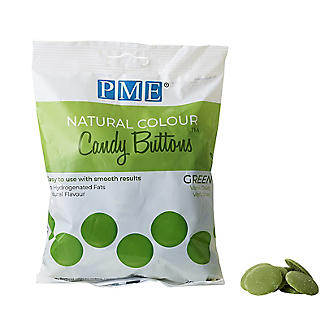 PME Natural Colour Candy Buttons Green 200g