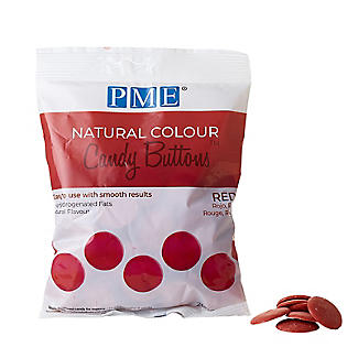 PME Natural Colour Candy Buttons Red 200g