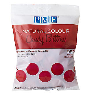 PME Natural Colour Candy Buttons Red 200g alt image 3